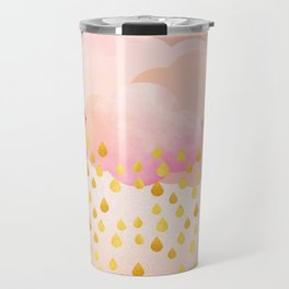 Rose gold rainshowers Travel Mug