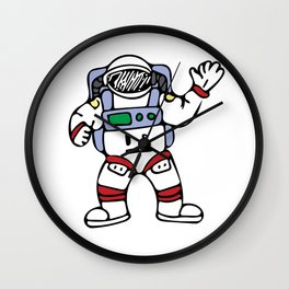 Astronaut Cosmonaut Cosmos Traveller Spacesuit Design Wall Clock