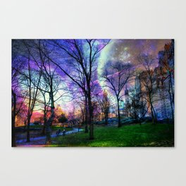 Planets in Central Park Canvas Print