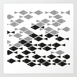 PatternFish Black &White Art Print