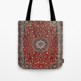N63 - Red Heritage Oriental Traditional Moroccan Style Artwork Tote Bag