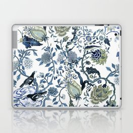 Blue vintage chinoiserie flora Laptop & iPad Skin