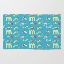 Letter M Pure Star Kids Rug