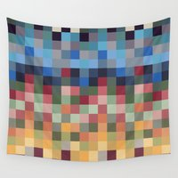 pixel Wall Tapestries featuring Pixel by crrr