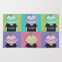 punk Area & Throw Rugs featuring Punk? by Maripili