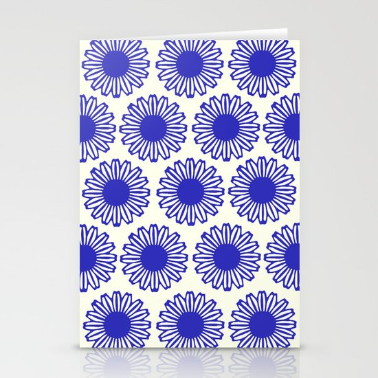 vintage flowers blue  Stationery Cards