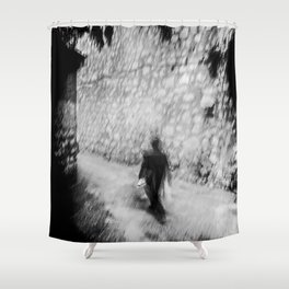 Heading down the lane Shower Curtain