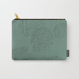 Blooming Botanical Floral Print Carry-All Pouch