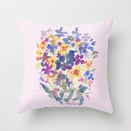 Wildflower Lovelies Throw Pillow