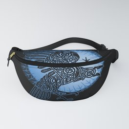 Viking Raven of Death - Blue Fanny Pack