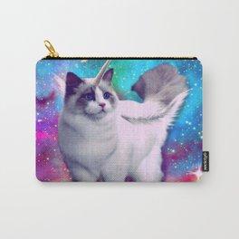 unicorn cat spece crazy cat rainow Carry-All Pouch
