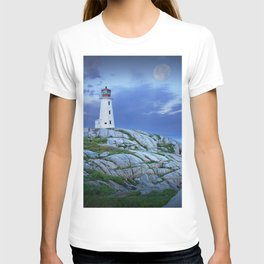 Lighthouse at Peggy's Cove in the Moonlight T-shirt