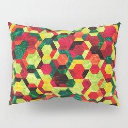 Colorful Half Hexagons Pattern #05 Pillow Sham