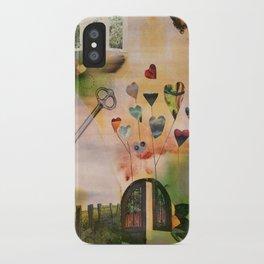 Hearts Door iPhone Case