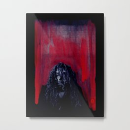 African American Masterpiece 'The Abyss' Young Man from Harlem portrait painting Metal Print