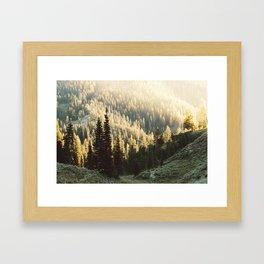 Hazey Wyoming Sunset Framed Art Print