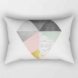 Fashion marble and golden Rectangular Pillow