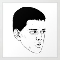 lou reed Art Prints featuring LOU REED by Mitch Meseke