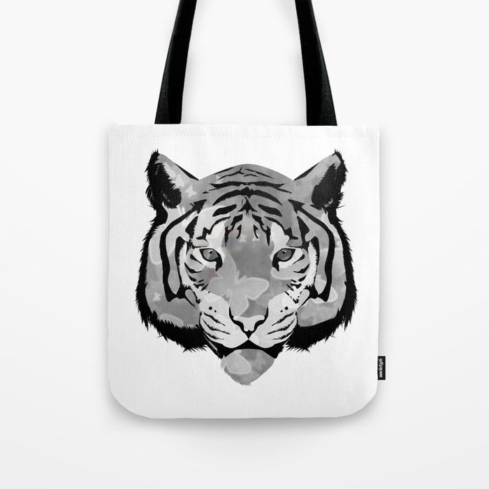Tiger B&W Tote Bag