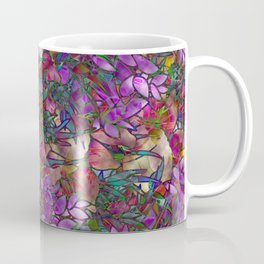 Floral Abstract Stained Glass G175 Coffee Mug