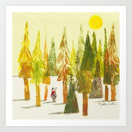 Hedgehog in the Forest Art Print