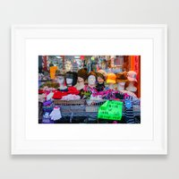 hats Framed Art Prints featuring Hats by Chee Sim