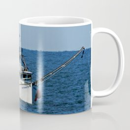 Fishing on the Sea 3 of 3 Starboard side view Coffee Mug