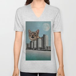 Cat City Unisex V-Neck
