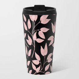 Elegant Rose Gold Leaves One Day or Day One, you decide typography Travel Mug