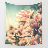 spring Wall Tapestries featuring Spring Equinox by Olivia Joy StClaire