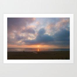 Sunset Santa Monica, California Art Print
