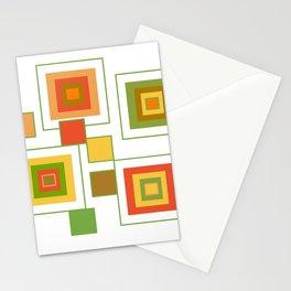 Retro Minimalist Square Design Stationery Cards