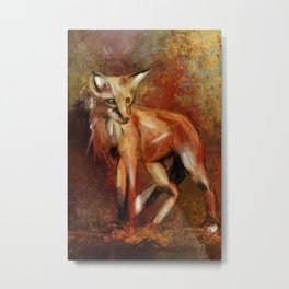 Abstract Red Fox Metal Print