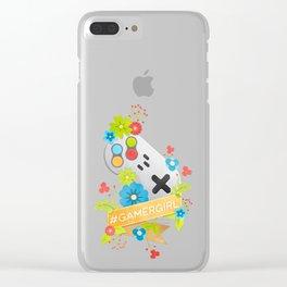 #GamerGirl Clear iPhone Case
