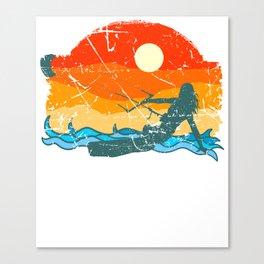Kitesurfing Board Gift Beach Wave Kite surf wind Shirt Canvas Print