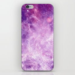 Purple Galaxy iPhone Skin