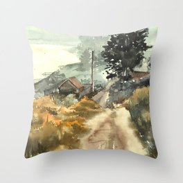 countryside Throw Pillow