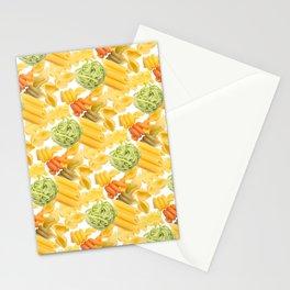 Pasta Pattern Stationery Cards