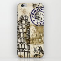 italy iPhone & iPod Skins featuring italy by Natasha79