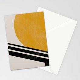 Geometric mid century Sun Stationery Cards