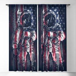 Astronaut Flag Blackout Curtain