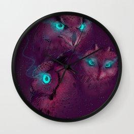 Owls III Wall Clock