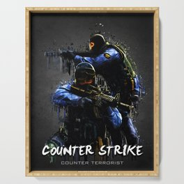 Acrylic Counter strike Serving Tray