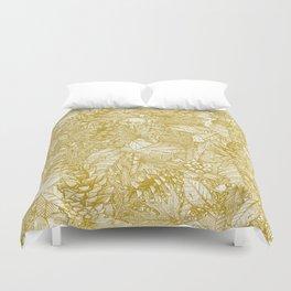 forest floor gold ivory Duvet Cover