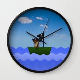 Pirate Cheetah Wall Clock