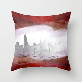 New York Abstraction Throw Pillow