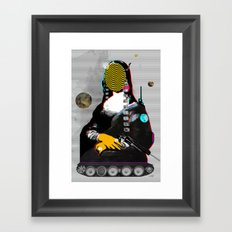 Mona Lisa StreetPopArt - Demon´s Night II Framed Art Print
