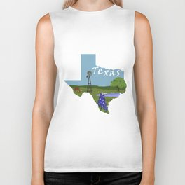 Texas: Blue Bonnet Biker Tank