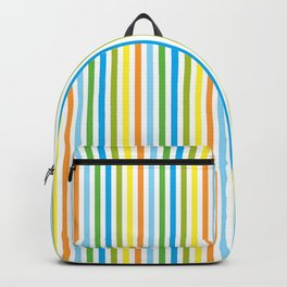 Colourful Pinstripes Backpack
