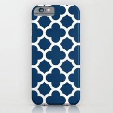 Navy Quatrefoil Slim Case iPhone 6